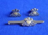 10th ROYAL HUSSARS CUFF LINK AND TIE GRIP / CLIP SET